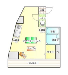 間取り(101号室)