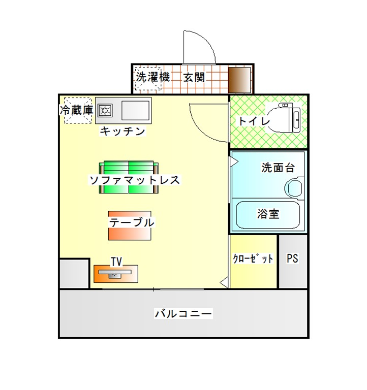 間取り(102号室)