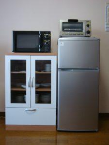 レンジ・トースター・冷蔵庫